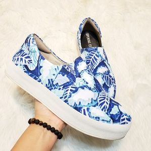 Opening Ceremony Shoes - Opening Ceremony Floral Twill Slip-Ons